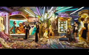 New Age Witch Kim Kardashian Christmas Card With Kanye West Illuminati