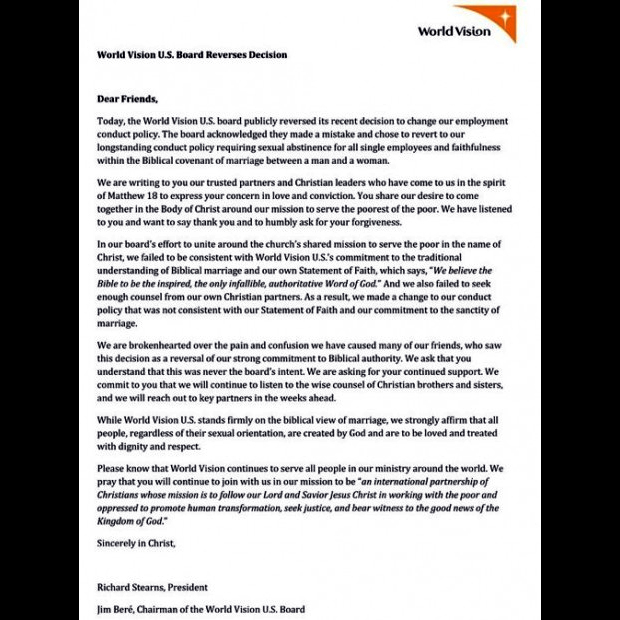 world-vision-repents-reverses-policy-on-hiring-gay-lesbians