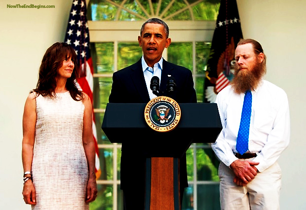 obama-commits-treason-gitmo-5-five-prisoner-swap-bowe-bob-bergdahl-deserter-traitor-islam-muslim