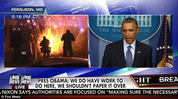 obama-says-anger-understandable-ferguson-rioters-set-police-cars-on-fire