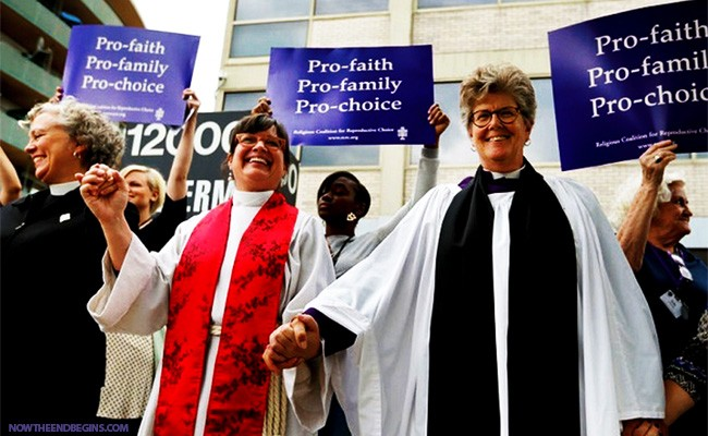 united-methodist-episcopalian-church-pastors-lead-prayer-rally-to-bless-abortion-clinics-church-laodicea-great-falling-away