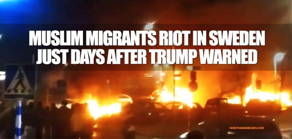 muslim-migrants-riot-sweden-president-donald-trump-was-right-speech-melbourne-florida