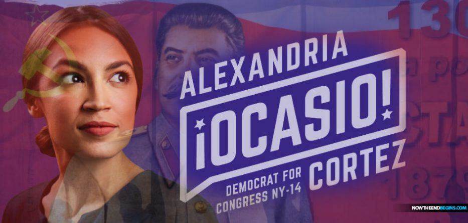 alexandria-ocasio-cortez-democratic-socialist-new-york-progressive-liberal-stalin-lenin-castro-marx