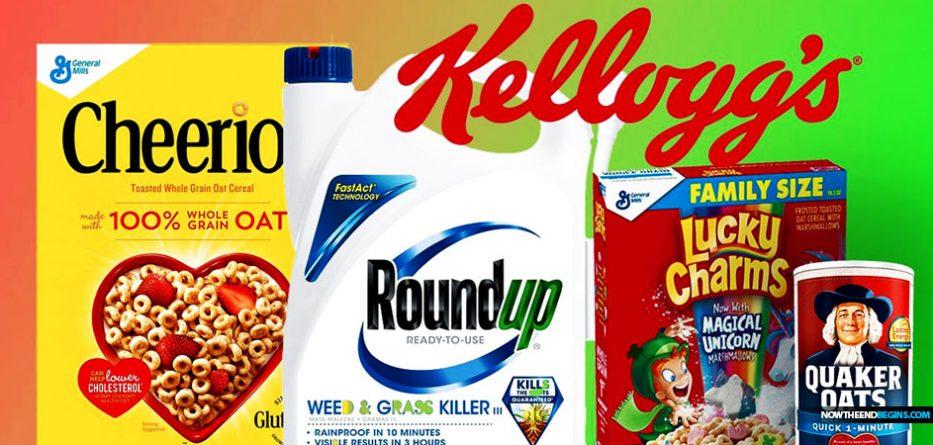 monsanto-roundup-glyphosate-kelloggs-quaker-oat-bran-breakfast-cereal-cancer-causing