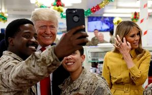 president-trump-first-lady-make-surprise-visit-see-troops-as-asad-airbase-iraq-war-zone