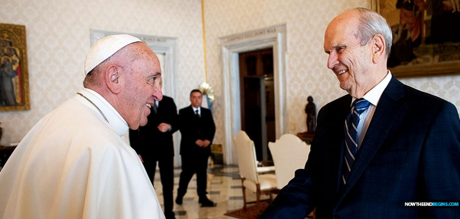 pope-francis-meets-mormon-president-russell-nelson-catholic-church-latter-day-saints-one-world-religion