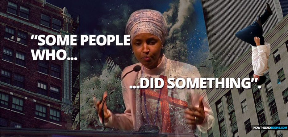 muslim-congresswoman-ilhan-omar-says-911-killers-some-people-who-did-something-cair-speech-muslim-hijackers-falling-man-islam