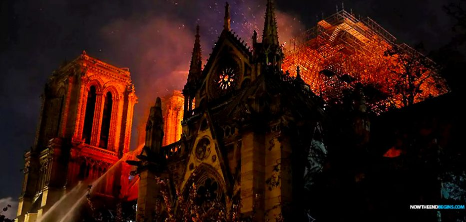 The Destruction Of The Roman Catholic Notre Dame Cathedral In