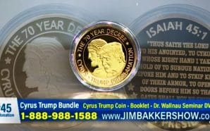 "For $45, Lance Wallnau and Jim Bakker will sell you a Trump/Cyrus coin that you can use as a ""point of contact"" between you and God as you pray for Trump's re-election in 2020."