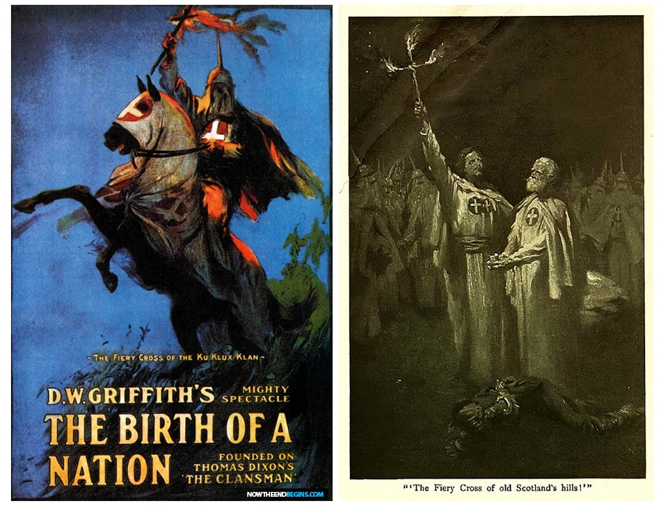 Theatrical poster for Birth of a Nation. The film is often credited with inspiring the resurgence of the KKK in 1915.