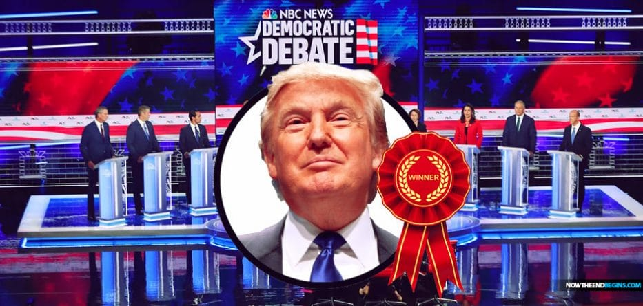 The winner of the first Democratic debate: Donald Trump
