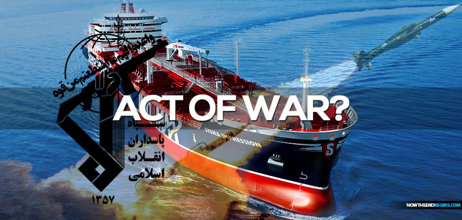 The Stena Impero was seized in the Strait of Hormuz at 4pm BST by Iran
