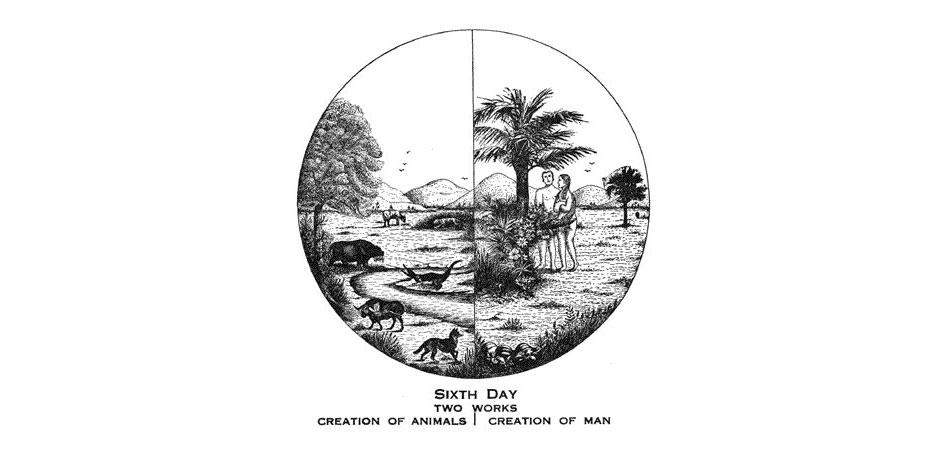 Larkin Charts Sixth Day Creation of Animals and Man