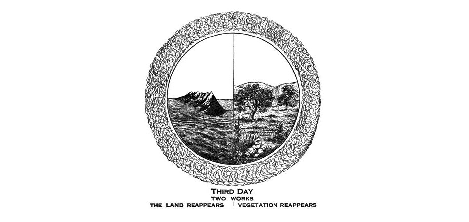 Larkin Charts Third Day Land and Vegetation Appear
