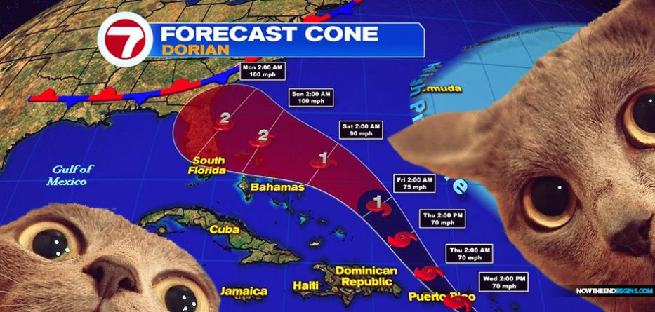 Tropical Storm Dorian could reach Florida as a Cat 3 hurricane this weekend