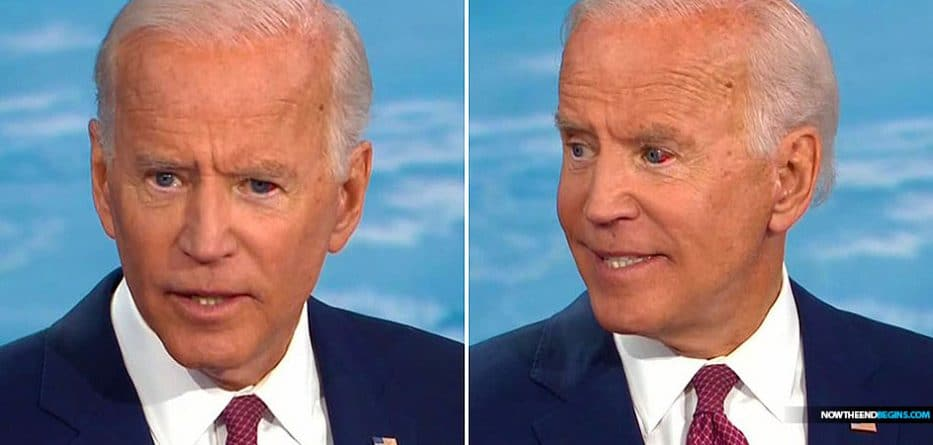 Joe Biden's eye fills with blood during CNN climate town hall