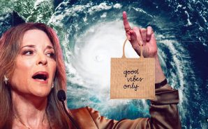 Presidential candidate Marianne Williamson credits 'the power of the mind' for pushing Hurricane Dorian off of the U.S. coast