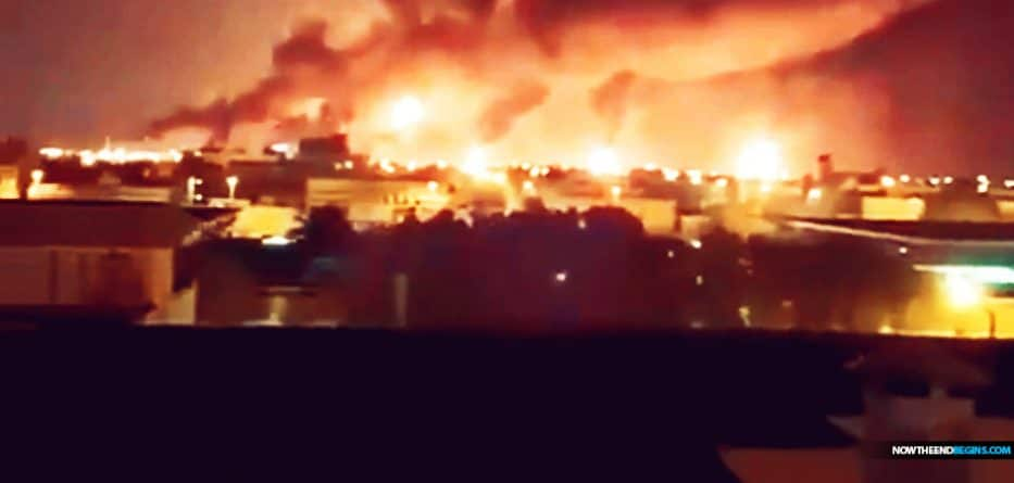 Drone attacks sparked fires at Aramco oil facilities in eastern Saudi Arabia today