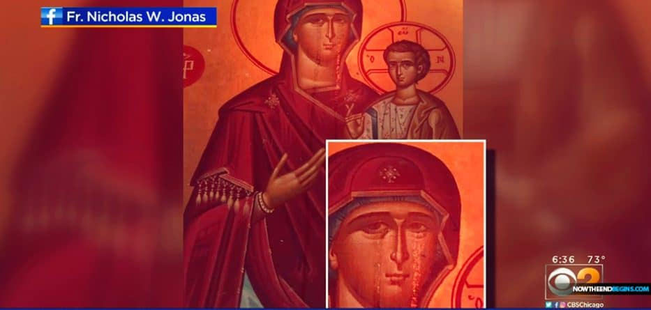 Worshipers flock to mysterious crying Virgin Mary icon, hope miracle saves church from sale