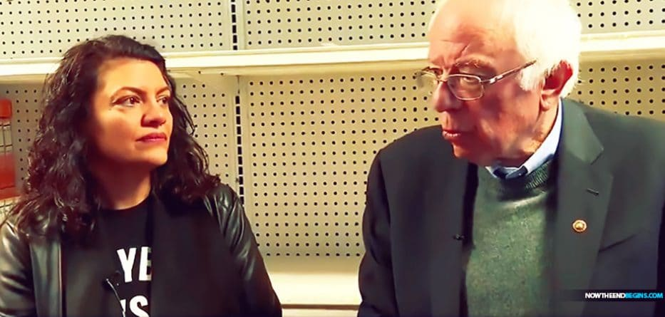 In a visit to Detroit on Sunday, where Democratic Michigan Rep. Rashida Tlaib endorsed his presidential candidacy, Independent Vermont Sen. Bernie Sanders talked to reporters in front of some empty store shelves.