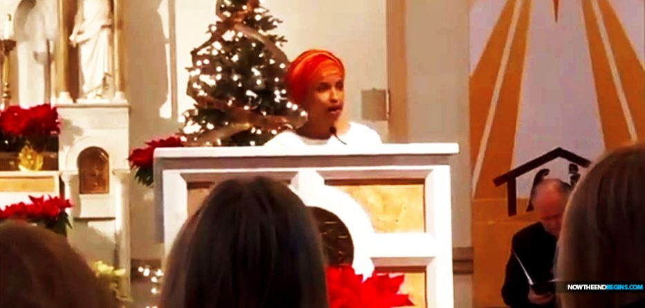 Muslim Ilhan Omar Reads Islamic Prayer At Catholic Church Chrislam Prayer Service