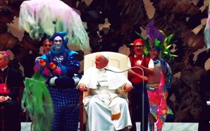 Pope Francis participates in circus act during General Audience