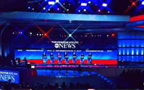 No American flags at the Democratic Presidential Candidates Debate from New Hampshire