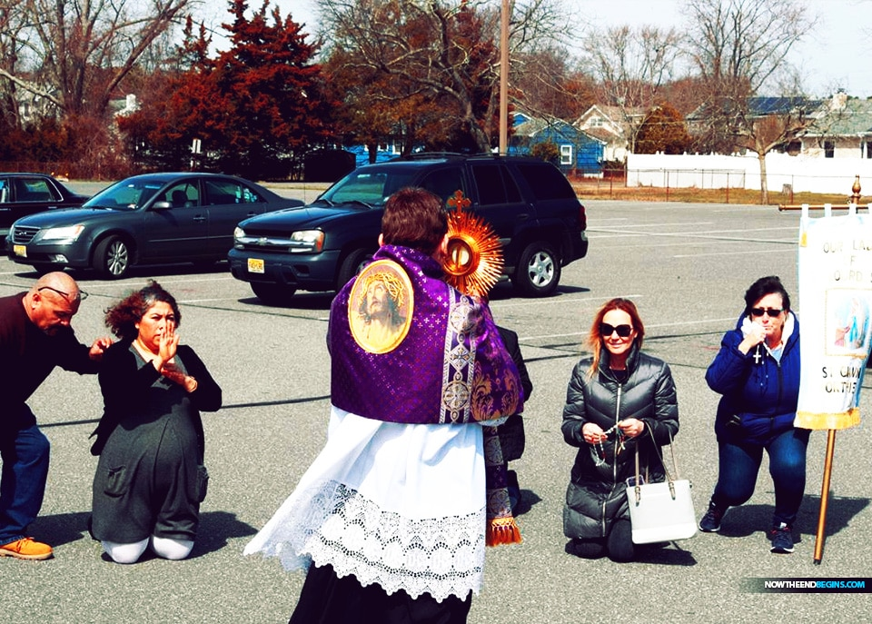 In the parking lot of the Northfield church, parishioners praying decades of the Rosary — and keeping 6 feet of distance between each other — saw Manuppella off as he was picked up from the parish rectory early Wednesday afternoon. A fellow priest, Father John Seo, joined him on the trip.