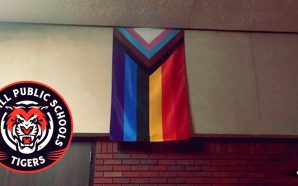 Marshall Middle school hangs LGBTQIA flag in cafeteria, bans flag of traditional family