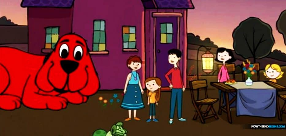 After a seventeen-year production hiatus, PBS has rebooted its enduring favorite, Clifford the Big Red Dog, but with one jarring change: The series now features a child with two lesbian 'moms'.