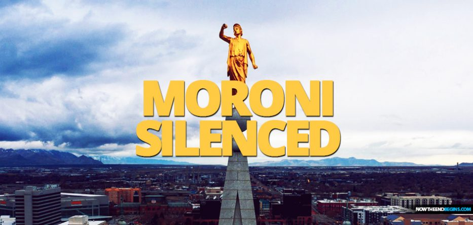 Utah earthquake causes Angel Moroni on Salt Lake Mormon Temple to lose his trumpet