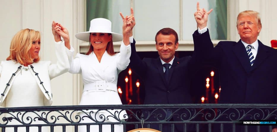 In 2018, Emmanuel Macron Raised The Sign Of Antichrist Over America, Now In 2020 He Needs President Donald Trump Taken Out Of His Way