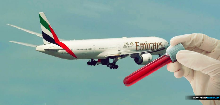 One airline, Emirates in the Middle East, is now administering COVID-19 blood tests to passengers before they board flights amid the coronavirus pandemic, it announced on Wednesday.
