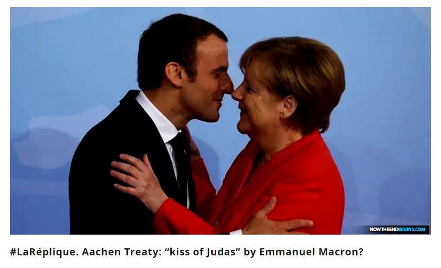 """#LaRéplique. Aachen Treaty: """"kiss of Judas"""" by Emmanuel Macron?"""