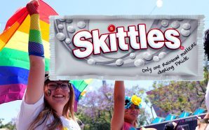 Skittles ditches the rainbow to celebrate the LGBTQ+ community for Pride Month with gay activist group GLAAD.