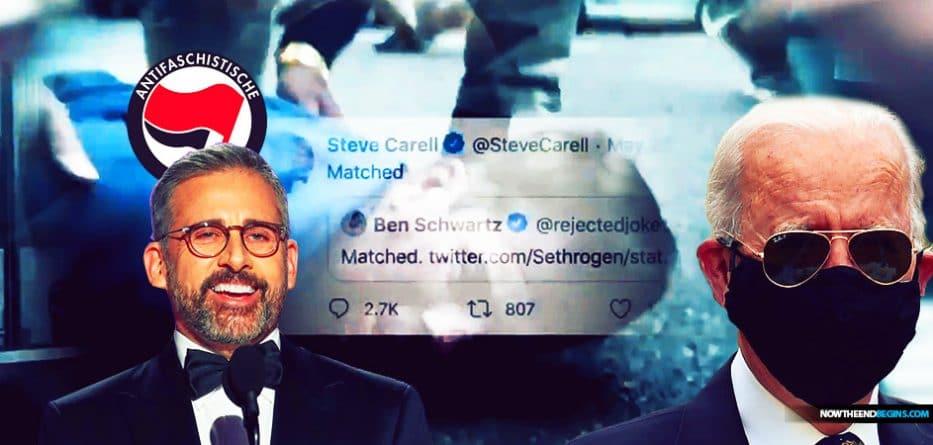steve-carell-hollywood-liberals-donate-money-bail-out-antifa-blm-terrorists-minnesota-freedom-fund-floyd-george-joe-biden