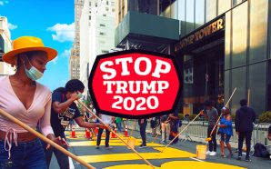 enemies-of-president-donald-trump-tower-black-lives-matter-street-sign-prevent-reelection-november