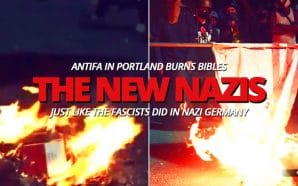 portland-antifa-burns-bible-american-flag-like-nazi-germany-fascists