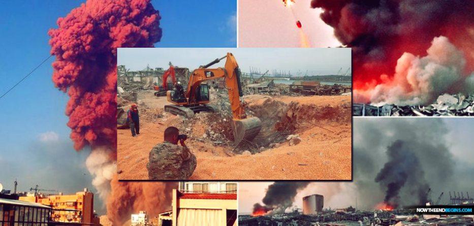 underground-tunnels-chambers-found-lebanon-beirut-after-massive-explosion-emmanuel-macron-france-antichrist