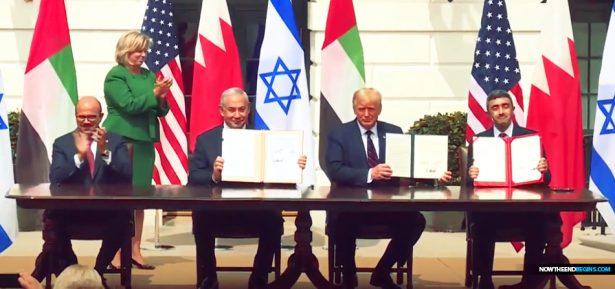 israel-signs-abraham-accord-at-white-house-president-trump-united-arab-emirates-uae-bahrain-daniel-9-end-times-nteb