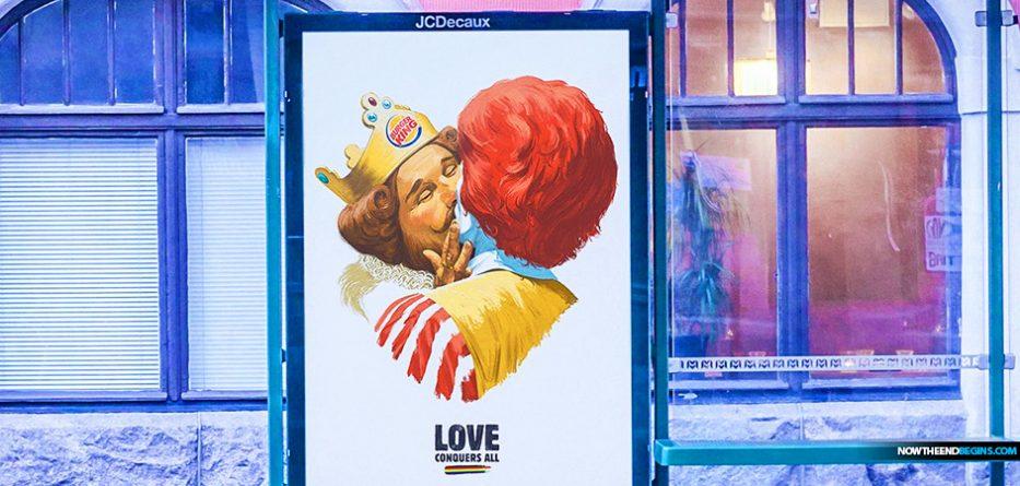 love-conquers-all-burger-king-kissing-ronald-mcdonald-lgbtq-ad-sodom-gomorrah-end-times