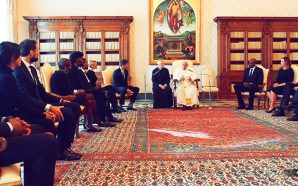 pope-francis-receives-delegation-from-black-lives-matter-nba-national-basketball-association-to-discuss-social-justice-vatican-roman-catholic-church