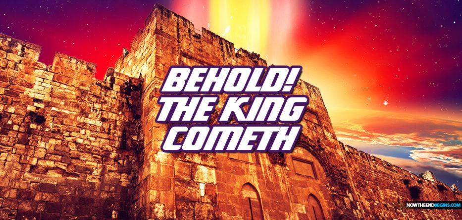 yeshua-messiah-king-jesus-returns-second-coming-opens-eastern-gate-jerusalem-battle-armageddon-defeats-antichrist-revelation-19-ezekiel-44-king-james-bible-nteb