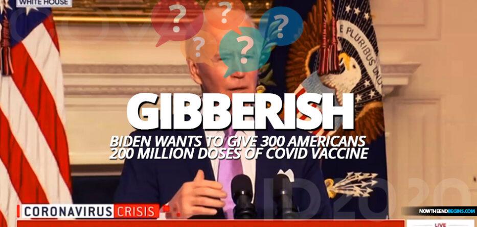 joe-biden-spouts-gibberish-300-americans-to-get-200-million-doses-covid-19-coronavirus-cognitive-decline