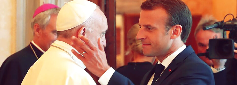 emmanuel-macron-pope-francis-private-phone-call-chrislam-iraq-abraham-accords-ur-chaldees-man-of-sin-false-prophet-king-james-bible-prophecy