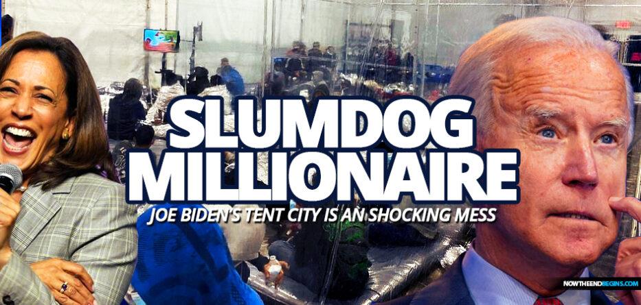 joe-biden-illegal-immigrants-kids-in-cages-tent-city-texas-mexico-slumdog-millionaire-democrats-border-crisis
