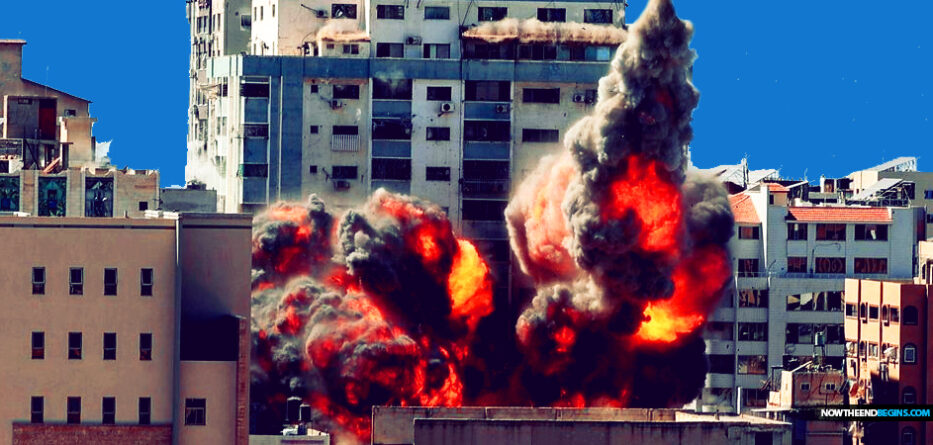 israel-idf-destroys-gaza-tower-as-netanyahu-vows-hamas-will-pay-for-rocket-attacks
