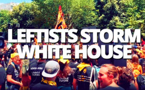 radical-climate-leftists-from-george-soros-funded-sunrise-movement-storm-white-house-block-all-entrances