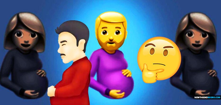pregnant-man-emoji-transgender-delusion-end-times-deception-trans-lgbtq