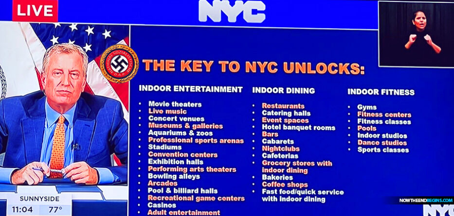 manhattan-mayor-bill-de-blasio-unveils-key-to-nyc-covid-excelsior-pass-for-access-mark-of-beast-prototype-666-new-york-city